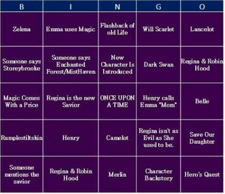 Once Upon A Time Season 5 Bingo Board 1.1
